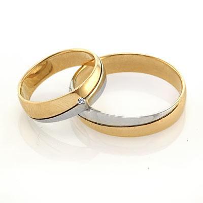 Кольца обручальные из золота и серебра