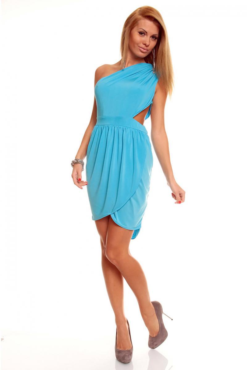 Купить Бело Синее Платье