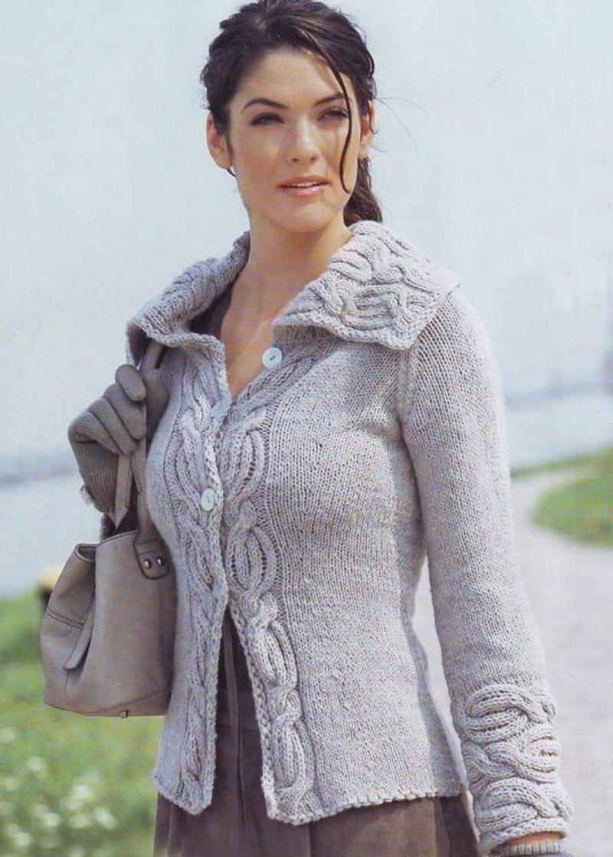 Красивые вязаные женские кофты