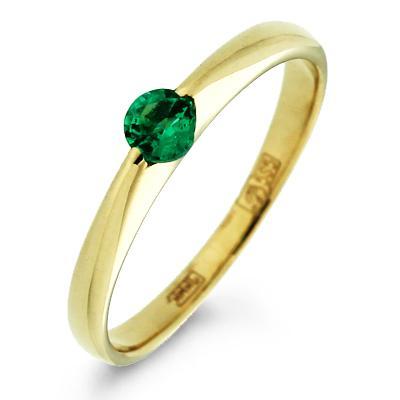 70de7e9c3f61 Золотое обручальное кольцо с изумрудом