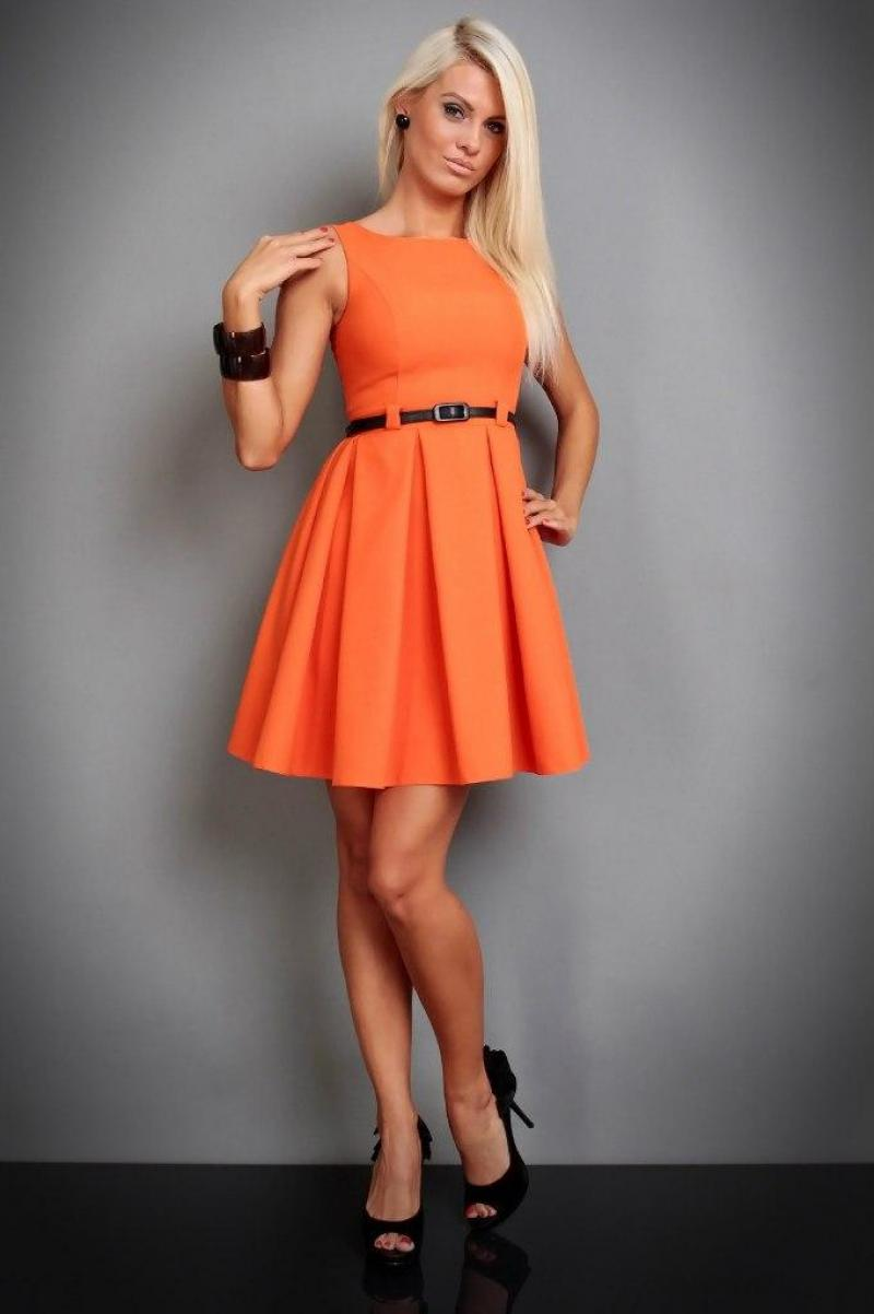 Платья Купить Оранжевого Цвета